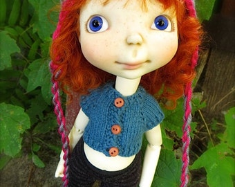 Knitted Crop Top for Sprocket Doll