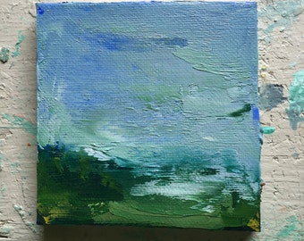 Group of four Mini Landscapes, Original oil painting on canvas