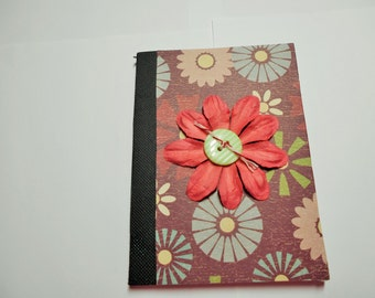 Mini Composition Book, Notebook, Journal, Mini Journal, Mini Notebook, altered composition book, Pocket journal