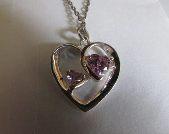 double pink heart