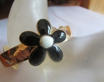 black flower bangle