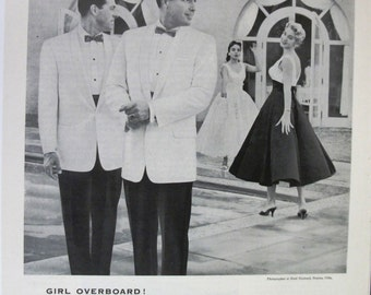 """Fashion Men  132   """"After Six by Rudofker"""" Ad  -  June 1958"""