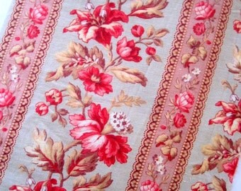 Antique French Flower Fabric - Napoleon III Period