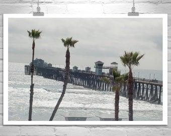 Oceanside Pier, California Art, Pier Photo, Beach Photograph, San Diego Art, California Coast, Ocean Art, Art Print, Southern California Art