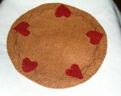 Heart vine candle mat, ab4b, ofg team