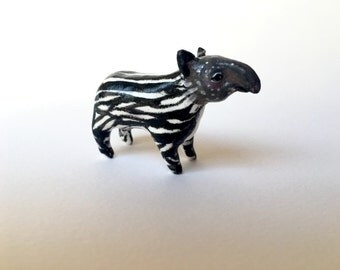 Baby tapir polymer clay totem