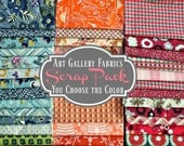 Art Gallery Fabric Scraps - You Choose the Color - 100% Designer Quilters Cotton