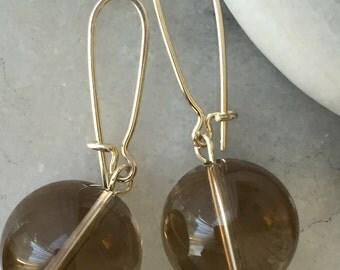 Quartz Bauble Earrings