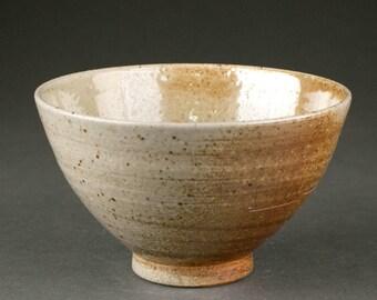 Soda-fired Stoneware Japanese Tea Ceremony Bowl (Matcha Chawan)