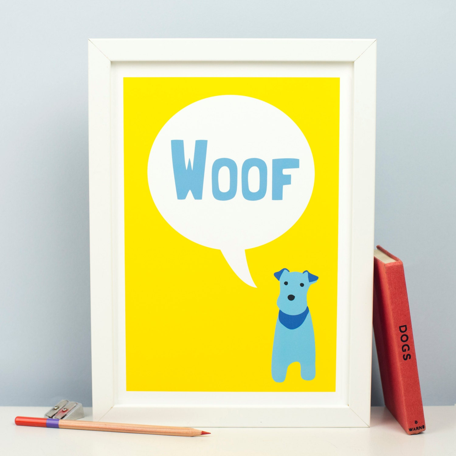 Woof Dog Print Dog Art...