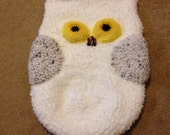 Handmade Owl Cocoon Baby Snuggy Snowy Owl Shower Gift