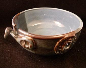 WheelWorksPottery - Yarn Bowl - Dual Function - Santa Fe