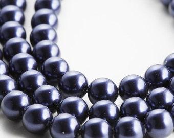 10pcs Swarovski 5810 Crystal Pearl-NIGHT BLUE 10mm (SWP1214001)