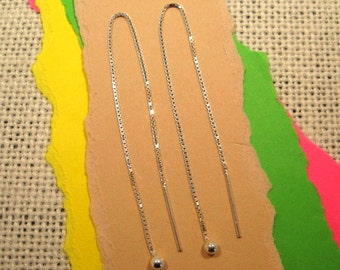 5 Inch Sterling Silver Ear Threads - 1 Pair