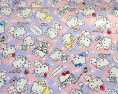ON SALE Hello Kitty Fabric Theme Half meter 50 cm by 106 cm or 19.6 by 42 inches