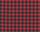 Fat Quarter- Burly Beavers plaid print quilter's cotton Robert Kaufman Fabric AHE-15995-3 Red