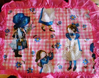 Vintage Holly Hobbie Pillow Sham Cover