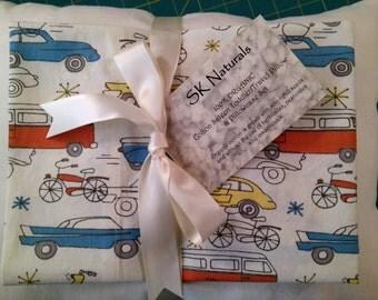 ORGANIC Cotton Pillowcase, Toddler/Travel-Sized, Circa 52 Cars