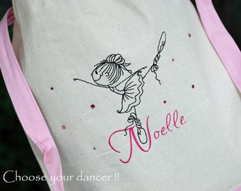 Girls personalized dance backpack  ballet jazz canvas