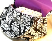Large Coupon Organizer, Coupon Holder, Coupon Purse, Ready to Ship, Classic Damask Fabric