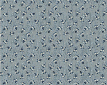 QUILTING FABRIC:  The Era of Jane Collection  Petalblue by Sue Daley for Penny Rose - 1 Yard