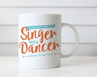 Clearance | Coffee Mug | Singer and a Dancer | Funny