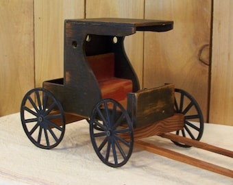 Primitive Antique Amish Style Buggy Carriage Wooden Primitive Decor