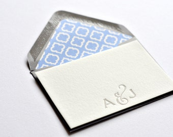 Create Your Own Letterpress Enclosure Card With An Option For Envelope Liner