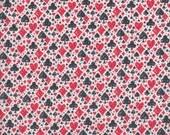 Blend Fabrics Wonderland Card Suits in White - Half Yard