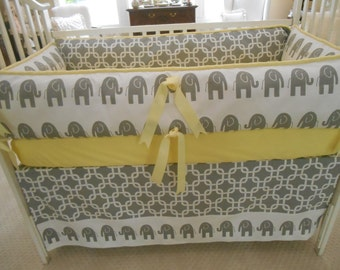 Elephants on Parade 4 piece set grey and yellow