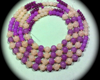 Amethyst and Cream Quartz craft Supplies beading supplies diy necklace bracelet earrings boho native ethnic gypsy modern cottage chic