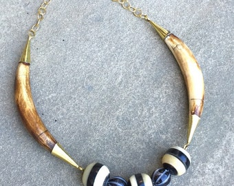 SALE! Horn and bone necklace