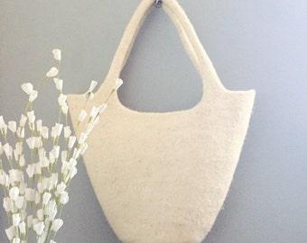 Handbag, wool, handmade, natural, made in morocco, vegan bag.