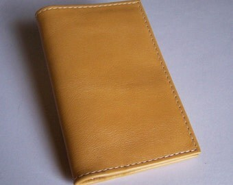 Yellow Leather Passport Cover Wallet - For U.S. and Canada Passports