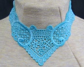V-shape solid color applique necklaces