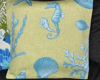 3 Coastal Print Pillow Covers