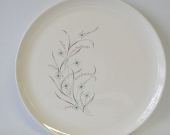Vintage Windemere pattern Ever Yours by Taylor Smith & Taylor / retro mid century modern Round Platter / 1950s dishes