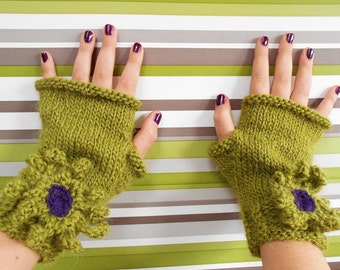 Knitting Pattern Fingerless Gloves Wrist Warmers Wisley Fingerless Gloves (4 Sizes Toddler - Adult)