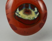 Anima ... glass CABOCHON artsy organic lampwork jewelry designer cabs  by GrowingEdgeGlass/ Mikelene Reusse
