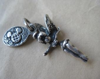 Tinkerbell Charm Sterling Silver Disney Vintage 925
