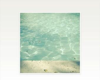 SALE 25% OFF Swimming Pool Art. Photographic  Print - Morning Swim