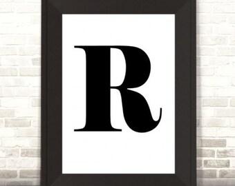 Monogram Print, Custom Monogram Letter Initial Print
