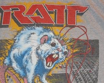 Vintage Ratt N Roll Concert Tour Sleeveless Tshirt 1984