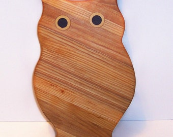 OWL  Cutting Board Handcrafted from Mixed Hardwoods