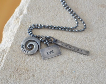 Personalized Names Necklace Sterling Silver