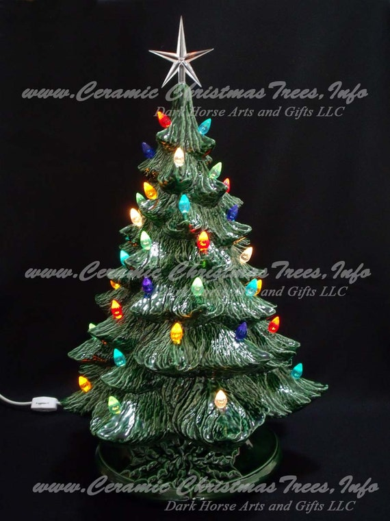 vintage style ceramic christmas tree 19 inches - Porcelain Christmas Tree With Lights