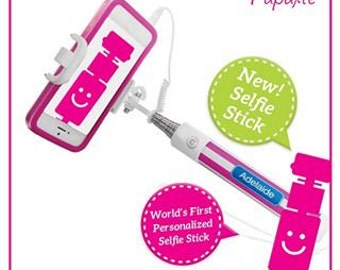 Personalized Selfie Stick - Monogram Cell Phone Photo, Gift for Teen, College, Holiday, Birthday, Travel