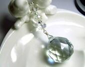 Crystal Suncatcher with Embellished Chain, Austrian crystals, Sun Catcher, 30mm, Rhinestones, Housewarming Gift, Good Energy, Feng Shui Gift