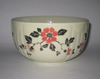 "Hall's Red Poppy Small Round Bowl 6"" Jewel Tea Vintage"