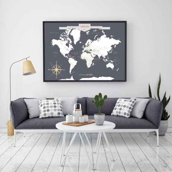 Push pin travel map world travels map map art world map te gusta este artculo gumiabroncs Images